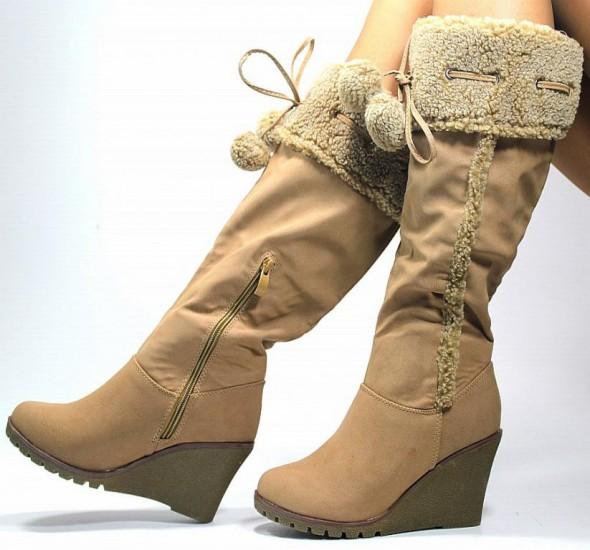 e071367b87f13 kozaki na koturnie | Damskie buty ikoną stylu