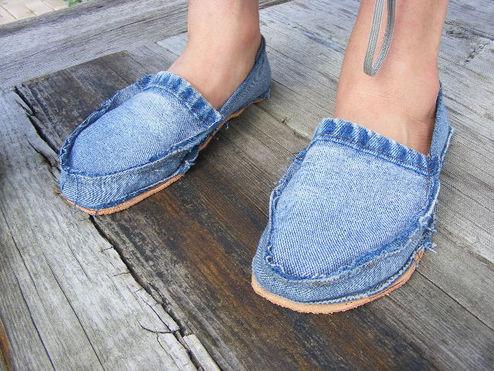 kapcie z jeansu